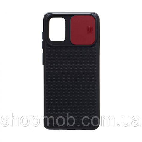 Чехол накладка для смартфонов (с защитой камеры) Non-slip Curtain for Samsung A71 Цвет Красный, фото 2