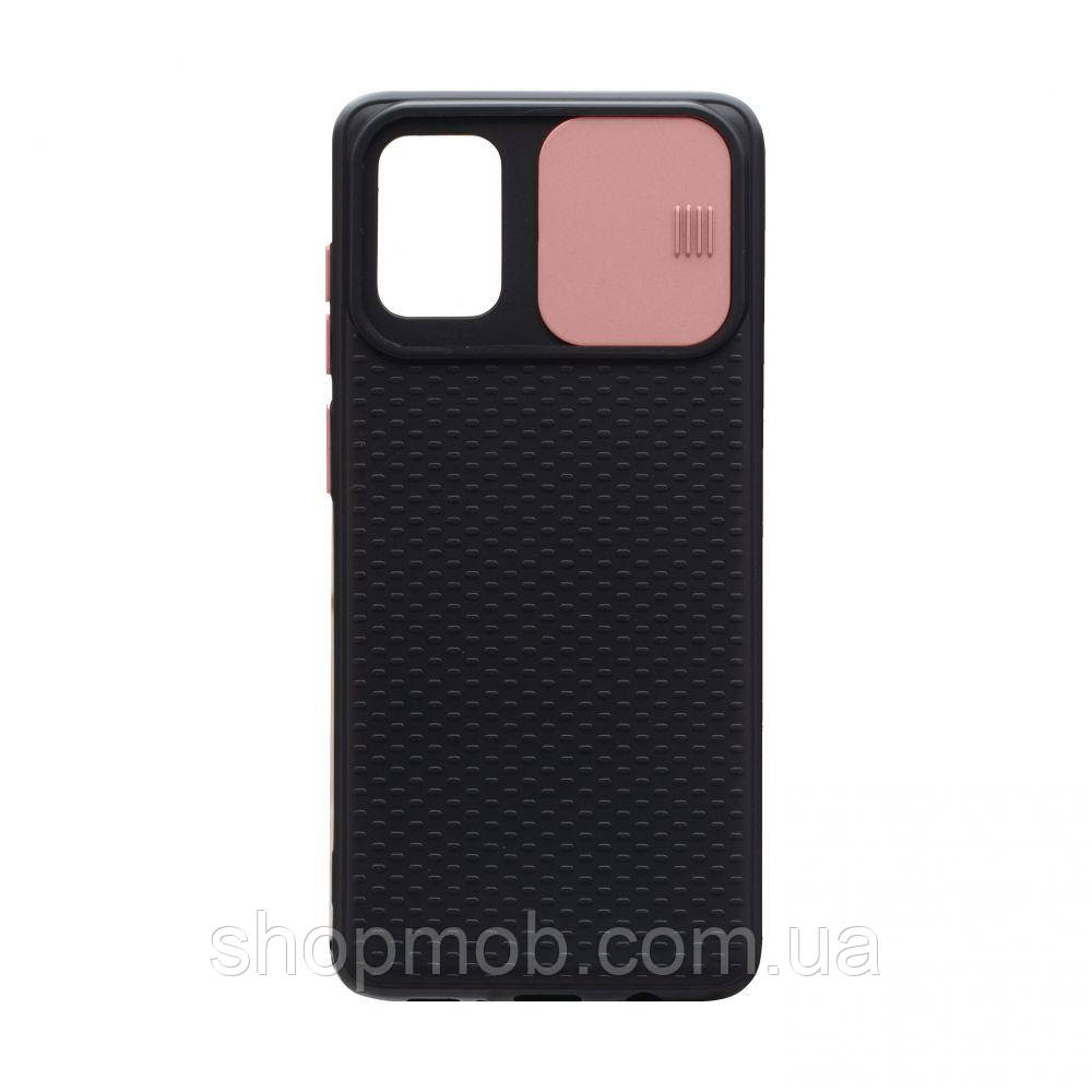Чехол накладка для смартфонов (с защитой камеры) Non-slip Curtain for Samsung A71 Цвет Розовый