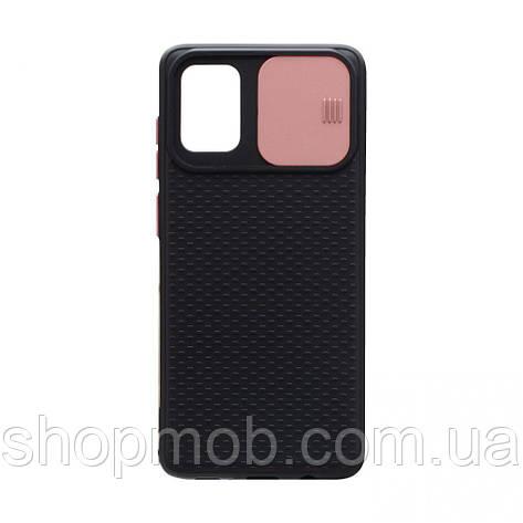 Чехол накладка для смартфонов (с защитой камеры) Non-slip Curtain for Samsung A71 Цвет Розовый, фото 2