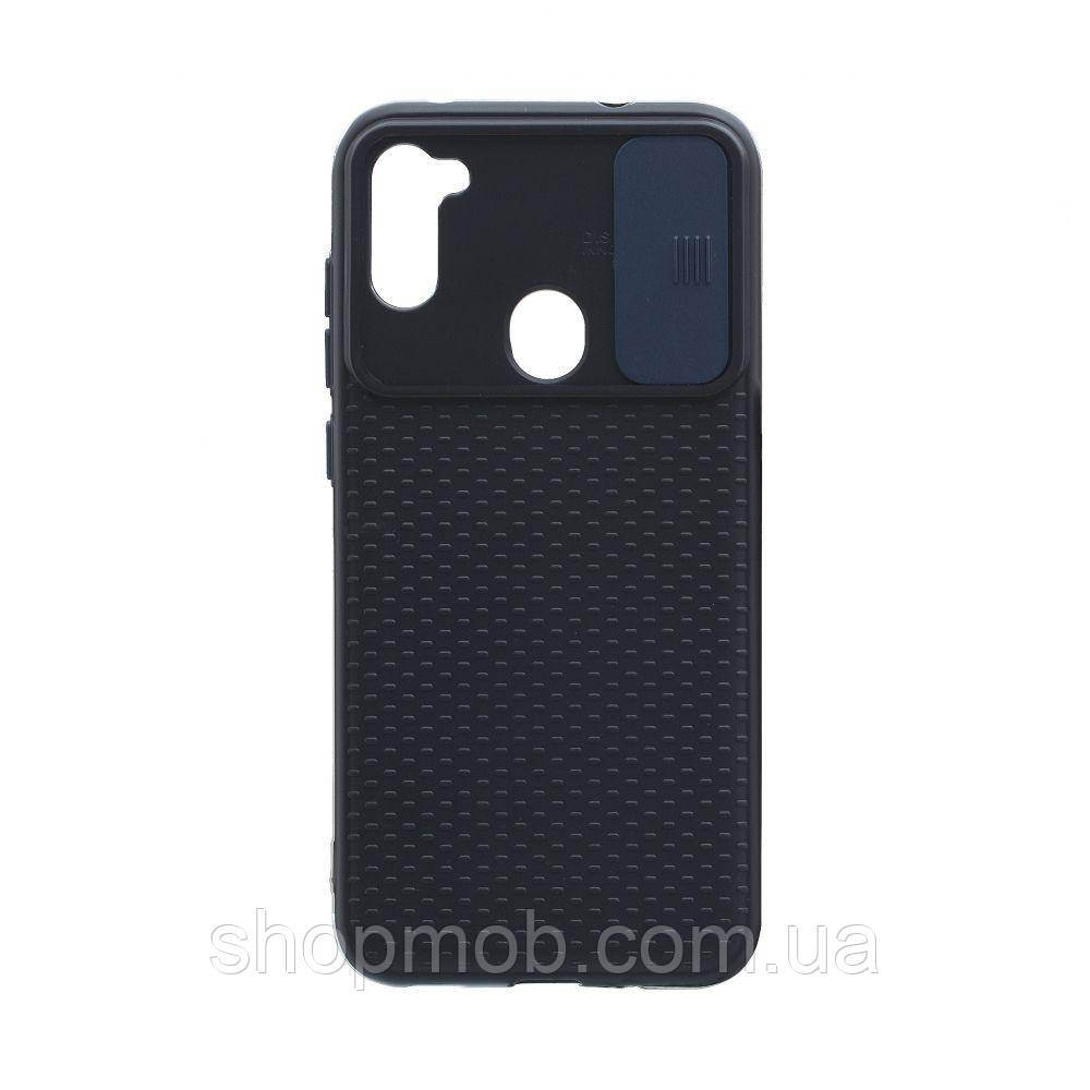 Чехол Non-Slip Curtain for Samsung A11 Цвет Синий