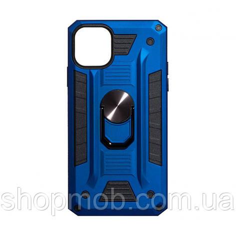 Чехол Robot Case with ring for Apple Iphone 11 Pro Max Цвет Синий, фото 2