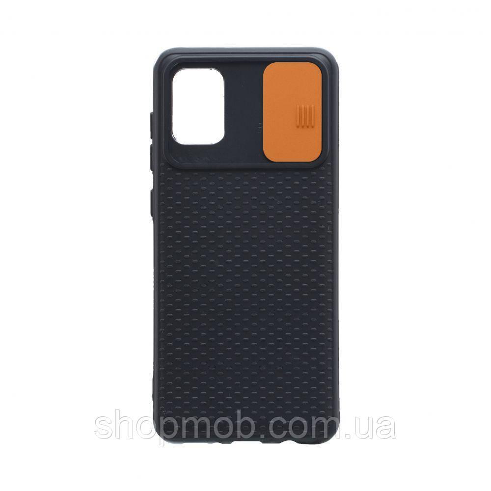 Чехол Non-Slip Curtain for Samsung A31 Цвет Оранжевый