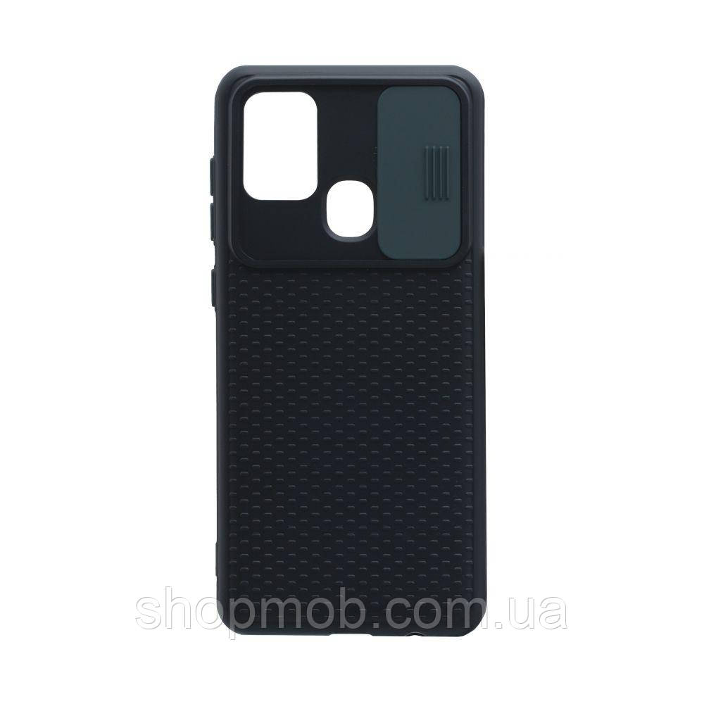 Чехол Non-Slip Curtain for Samsung A21s Цвет Зелёный