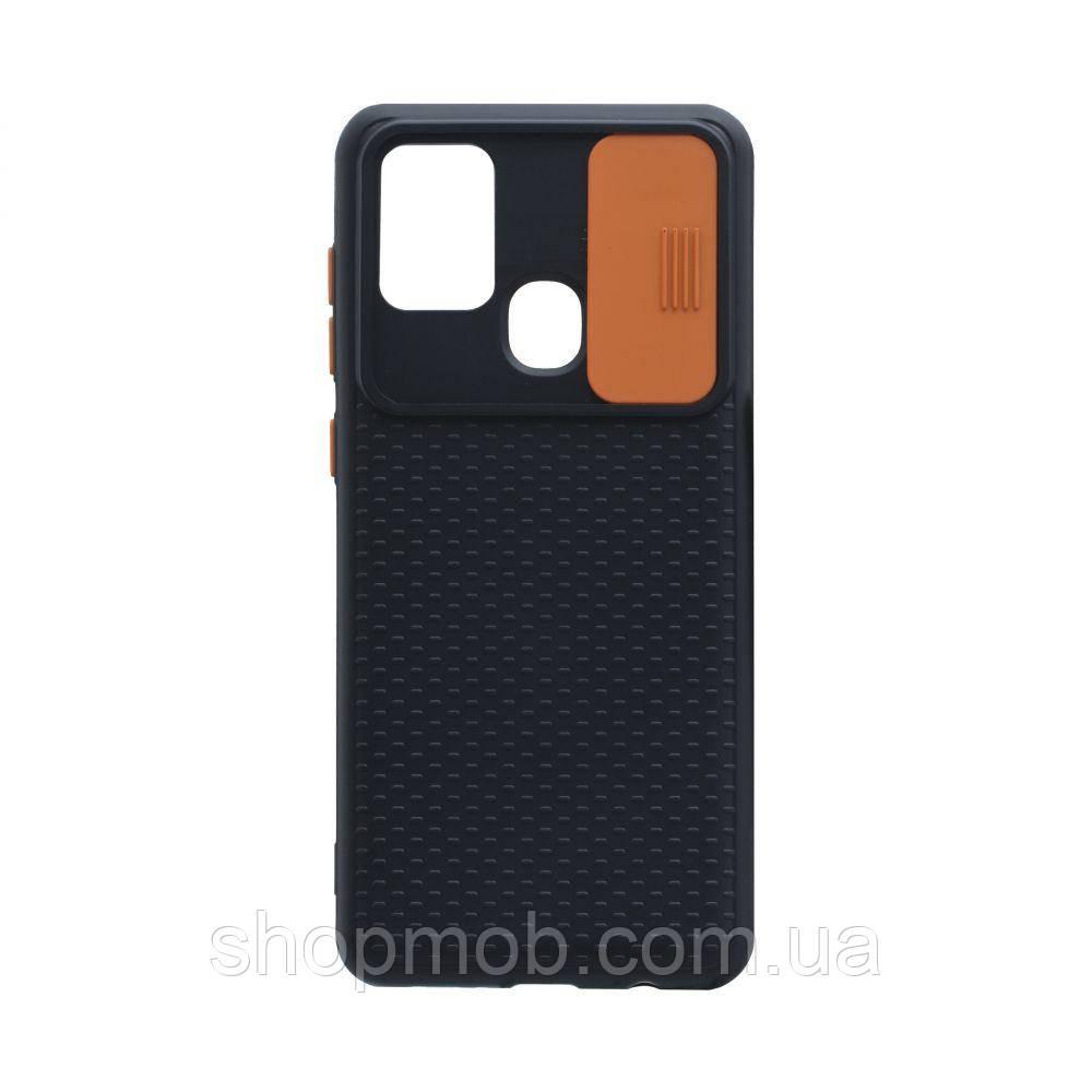 Чехол Non-Slip Curtain for Samsung A21s Цвет Оранжевый