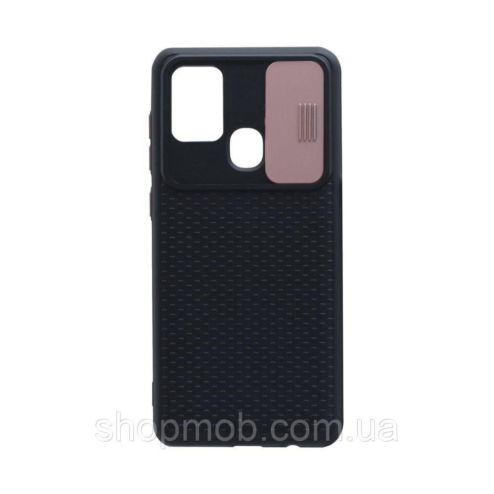 Чехол Non-Slip Curtain for Samsung A21s Цвет Розовый