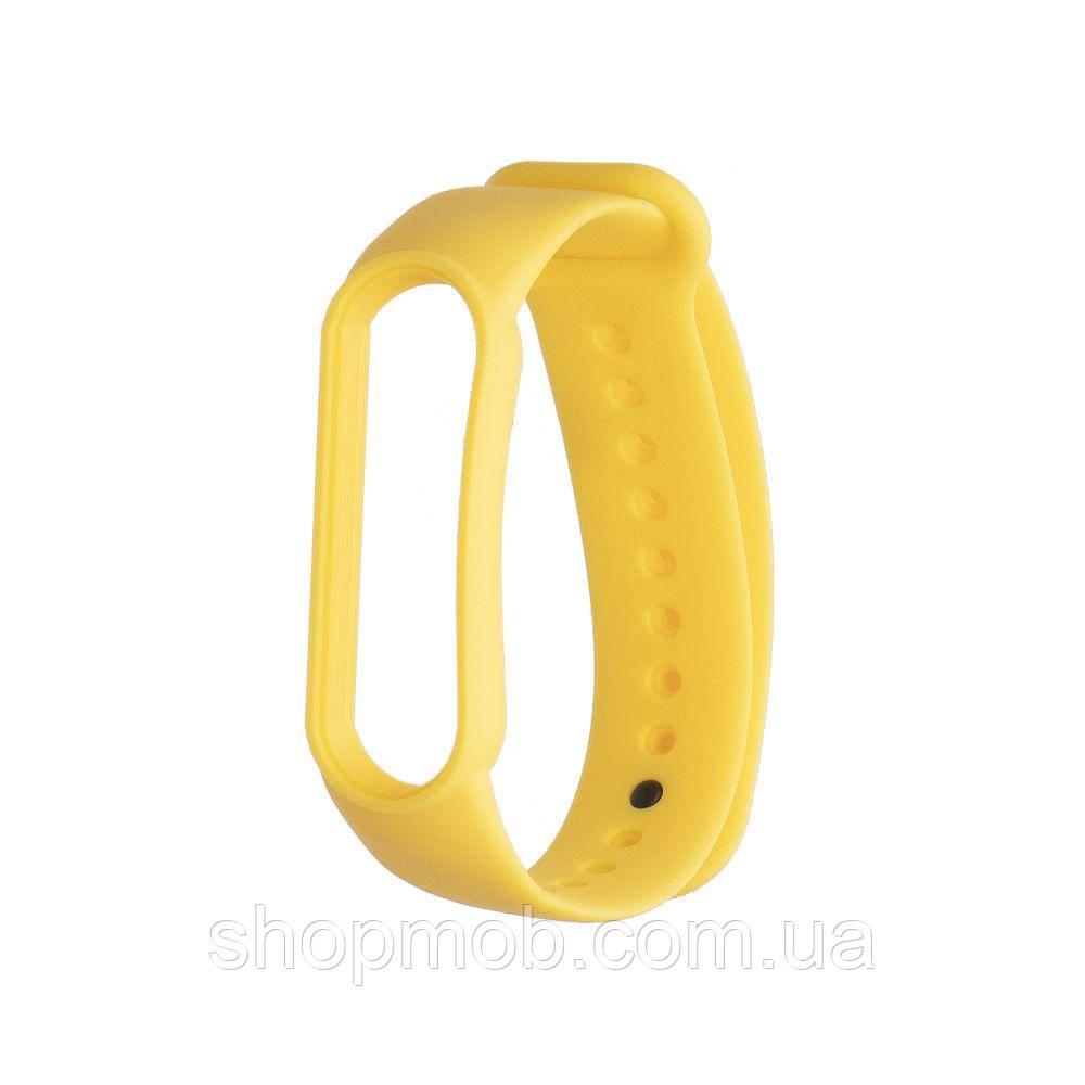 Ремешок для Xiaomi Mi Band 5 Original Design Цвет Жёлтый