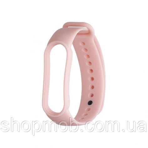 Ремешок для Xiaomi Mi Band 5 Original Design Цвет Светло-Розовый, фото 2