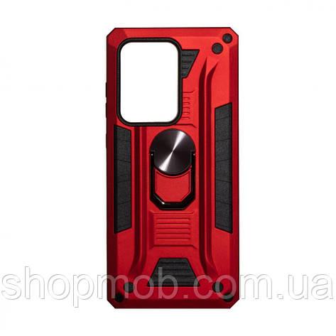Чохол Robot Case with ring for Samsung S20 Ultra Колір Червоний, фото 2