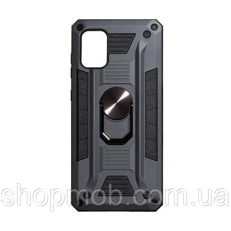 Чехол Robot Case with ring for Samsung A41 Цвет Серый, фото 2