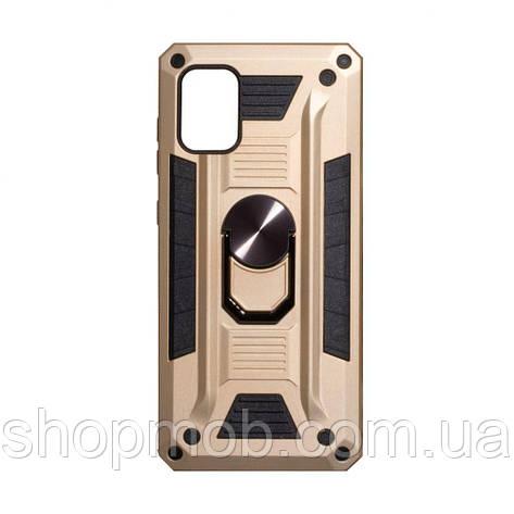 Чехол Robot Case with ring for Samsung A71 Цвет Золотой, фото 2
