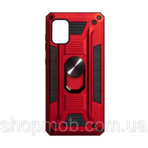 Чехол Robot Case with ring for Samsung A71 Цвет Красный, фото 2