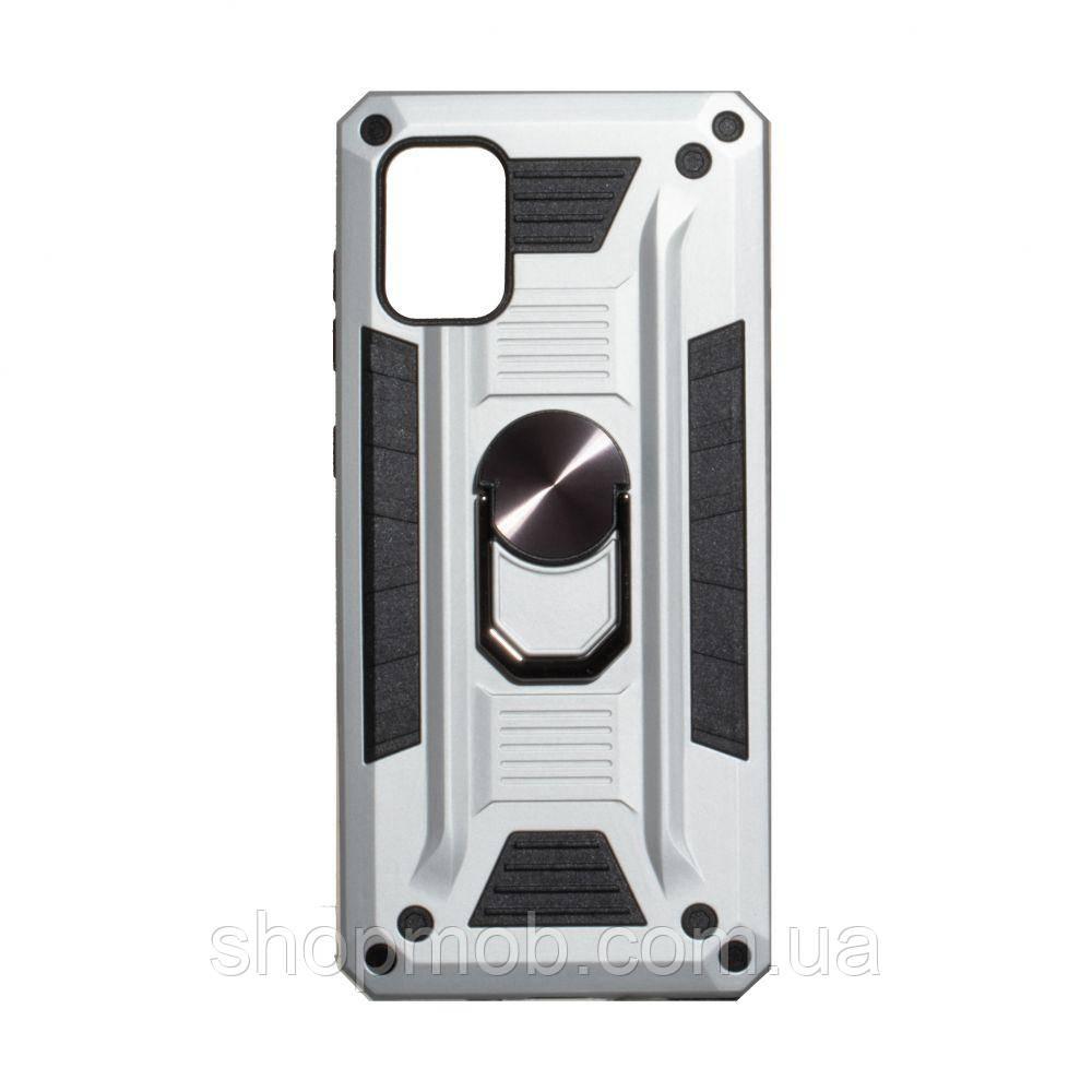 Чехол Robot Case with ring for Samsung A71 Цвет Стальной