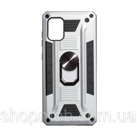 Чехол Robot Case with ring for Samsung A71 Цвет Стальной, фото 2