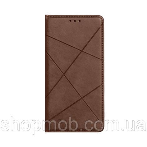 Чехол-книжка Business Leather for Huawei P40 Lite Цвет Коричневый, фото 2