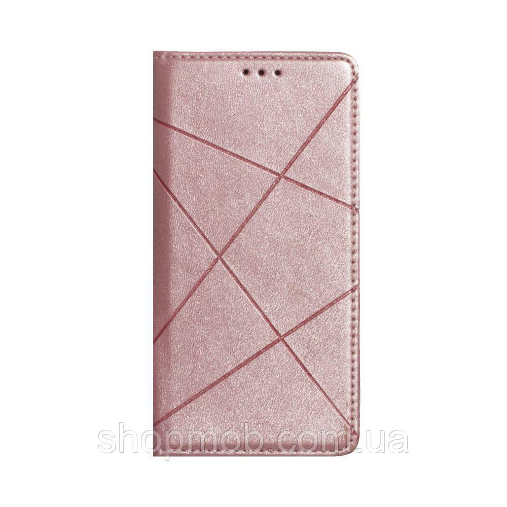 Чехол-книжка Business Leather for Huawei P40 Lite Цвет Розовый