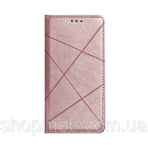 Чехол-книжка Business Leather for Huawei Y6P Eur Ver Цвет Розовый, фото 2