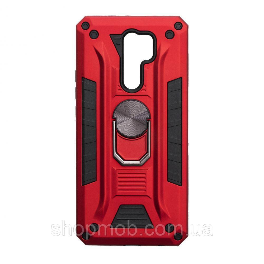 Чехол Robot Case with ring for Xiaomi Redmi 9 Цвет Красный