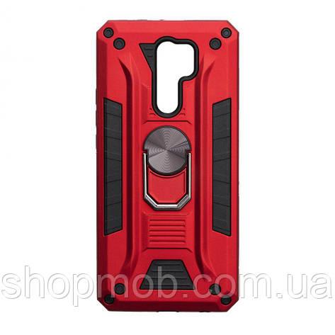 Чехол Robot Case with ring for Xiaomi Redmi 9 Цвет Красный, фото 2
