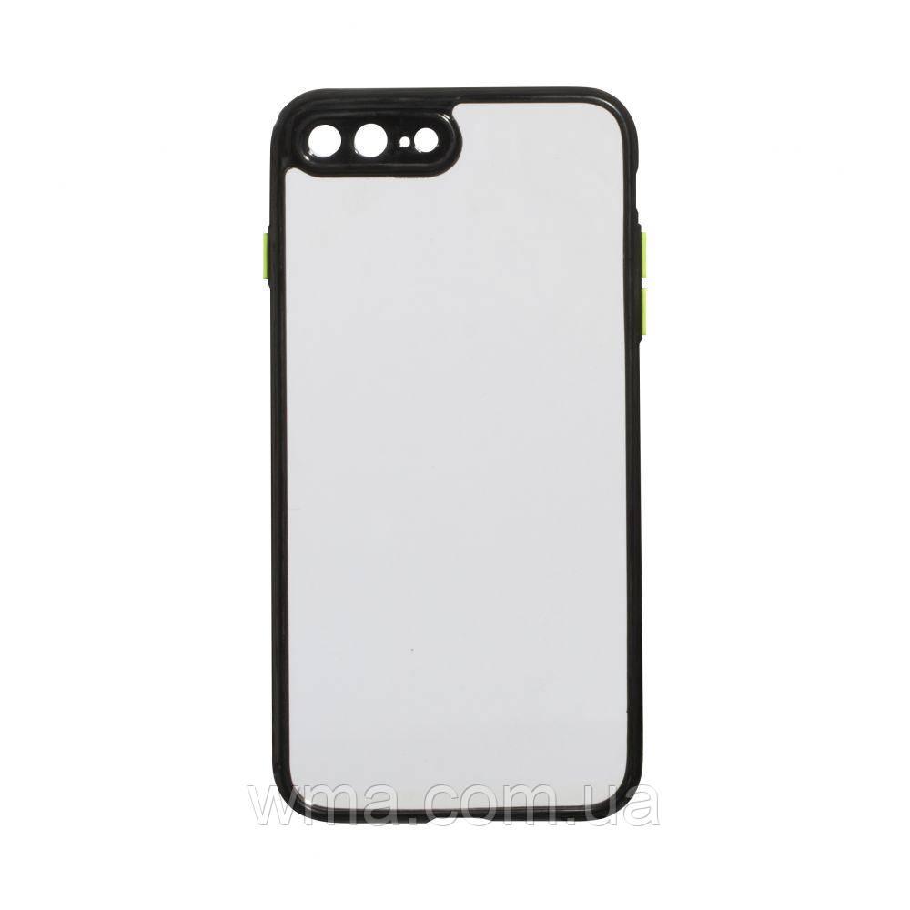 Чехол Frame Clear for Iphone 7 Plus / 8 Plus Цвет Чёрный