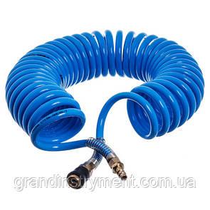 Шланг спиральный полиуретановый (PROFI) 8*12мм L=20м  AIRKRAFT. Made in Italy.   AHC48-L