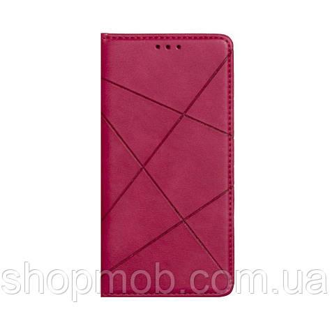 Чехол-книжка Business Leather for Xiaomi Mi Note 10 Lite Цвет Малиновый, фото 2