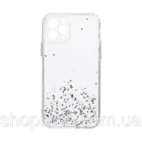 Чехол Frame with Sequins for Iphone 11 Pro Цвет Серебристый, фото 2