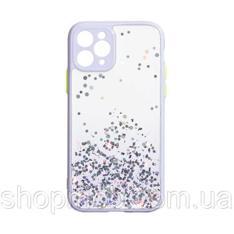 Чехол Frame with Sequins for Iphone 11 Pro Цвет Сиреневый, фото 2