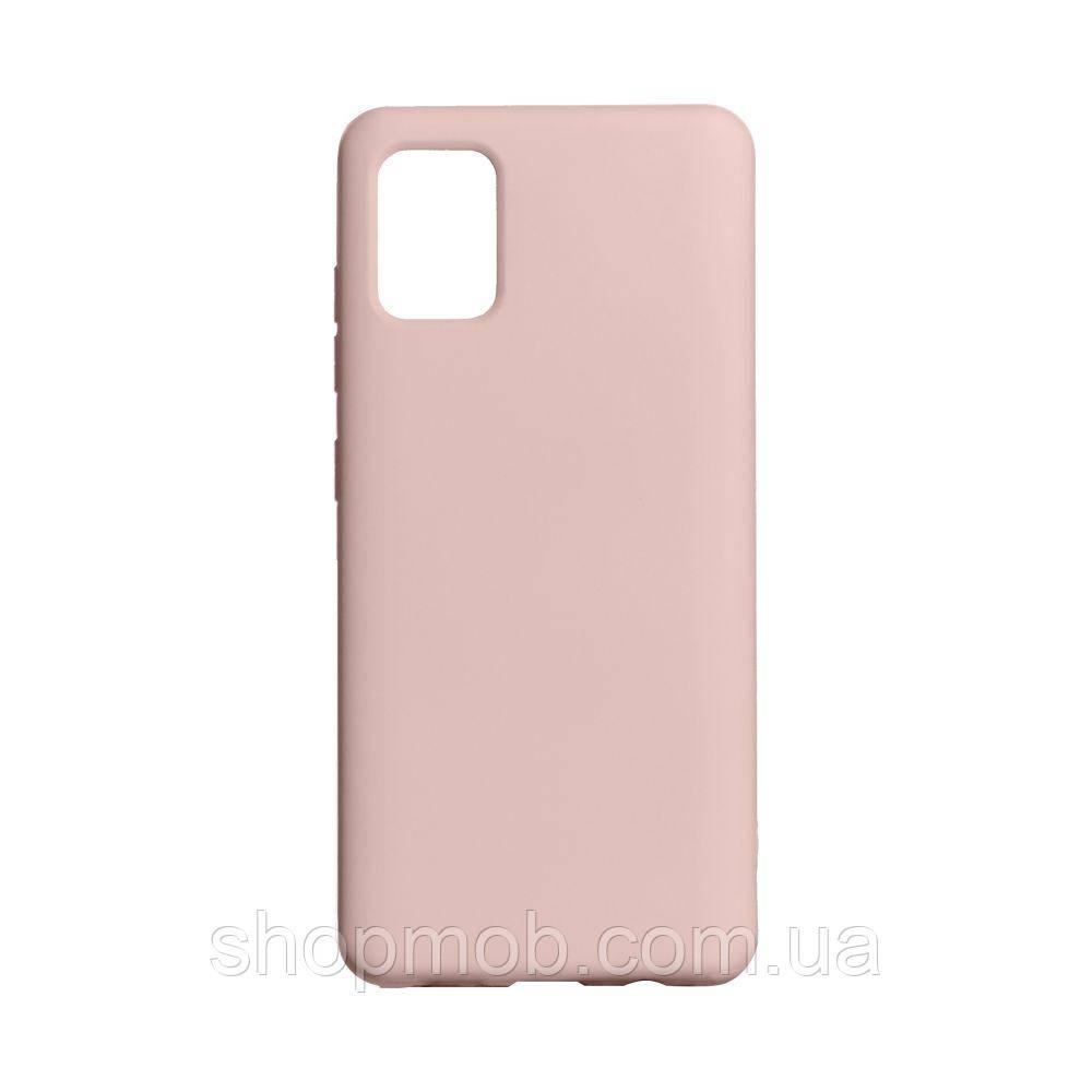 Чехол Full Case Original for Samsung A41 Цвет Pink