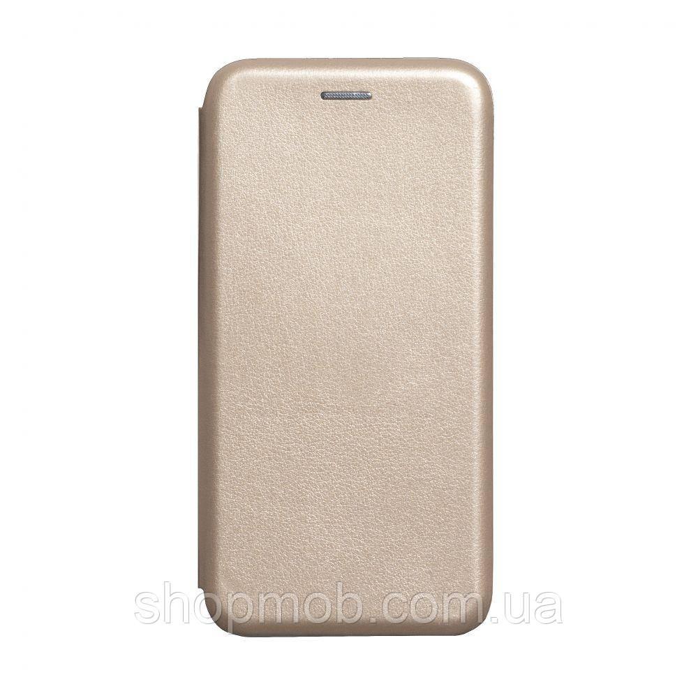Чехол-книжка кожа Xiaomi Redmi Note 8T Цвет Золотой