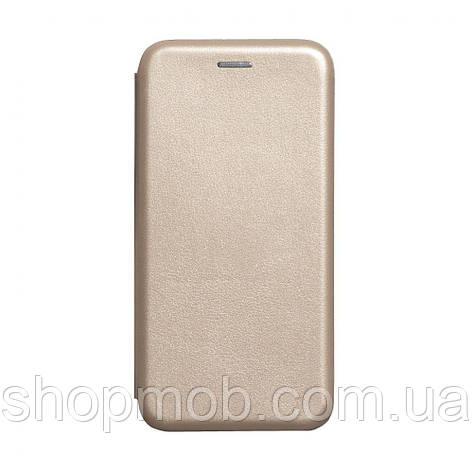 Чехол-книжка кожа Xiaomi Redmi Note 8T Цвет Золотой, фото 2