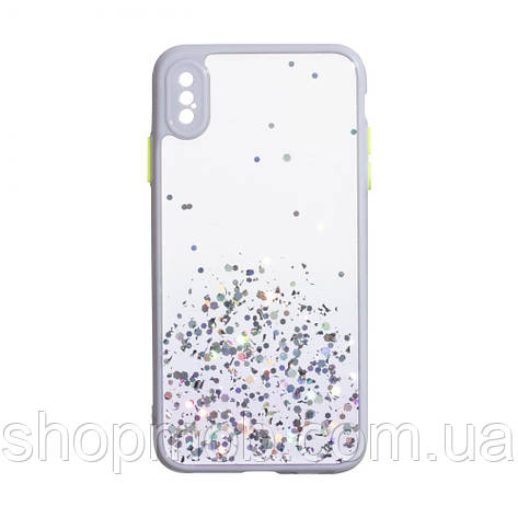 Чехол Frame with Sequins for Iphone Xs Max Цвет Сиреневый, фото 2