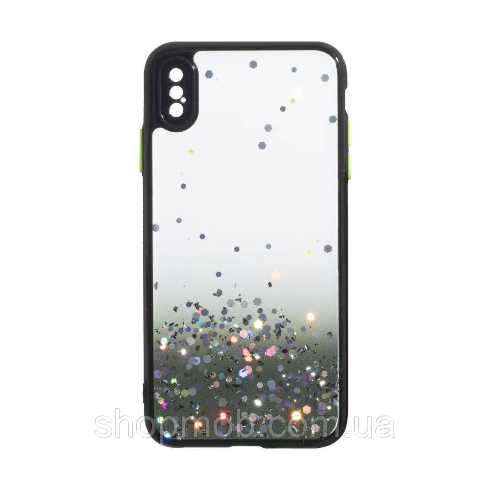 Чехол Frame with Sequins for Iphone Xs Max Цвет Чёрный
