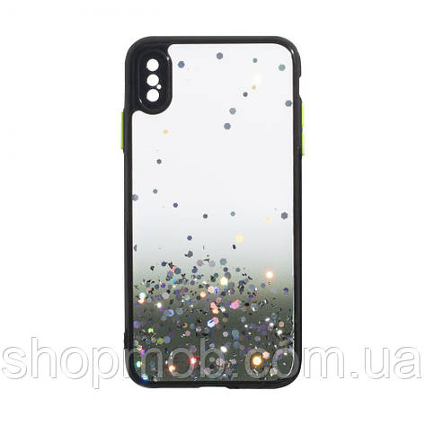 Чехол Frame with Sequins for Iphone Xs Max Цвет Чёрный, фото 2
