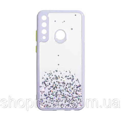 Чехол Frame with Sequins for Huawei Y6P Eur Ver Цвет Сиреневый, фото 2