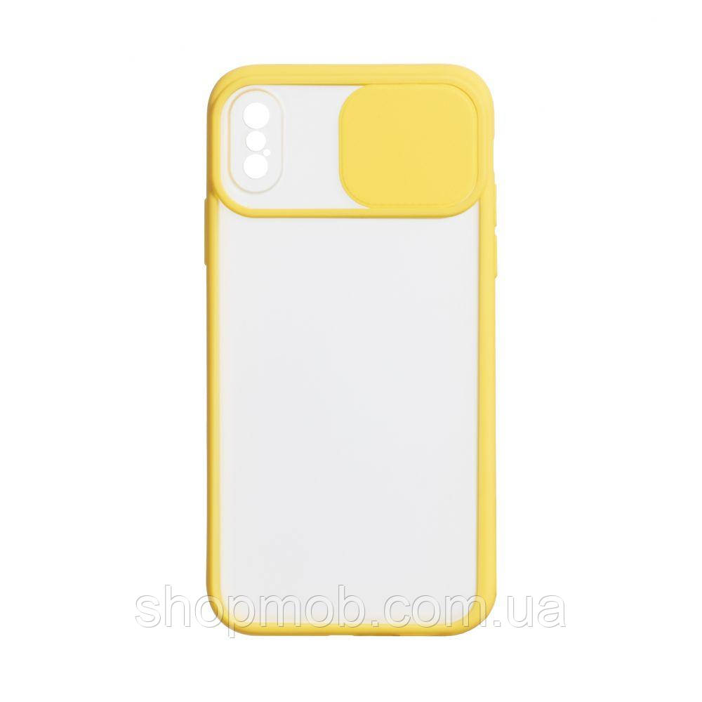 Чехол Totu Curtain for Apple Iphone X / Xs Цвет Жёлтый
