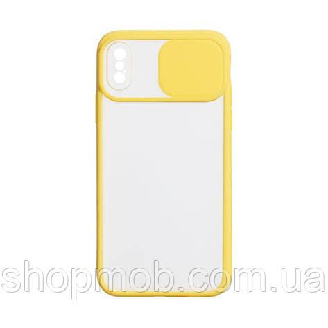 Чехол Totu Curtain for Apple Iphone X / Xs Цвет Жёлтый, фото 2