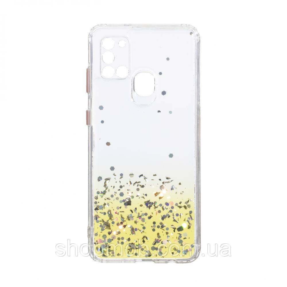 Чехол Frame with Sequins for Samsung A21s Цвет Жёлтый