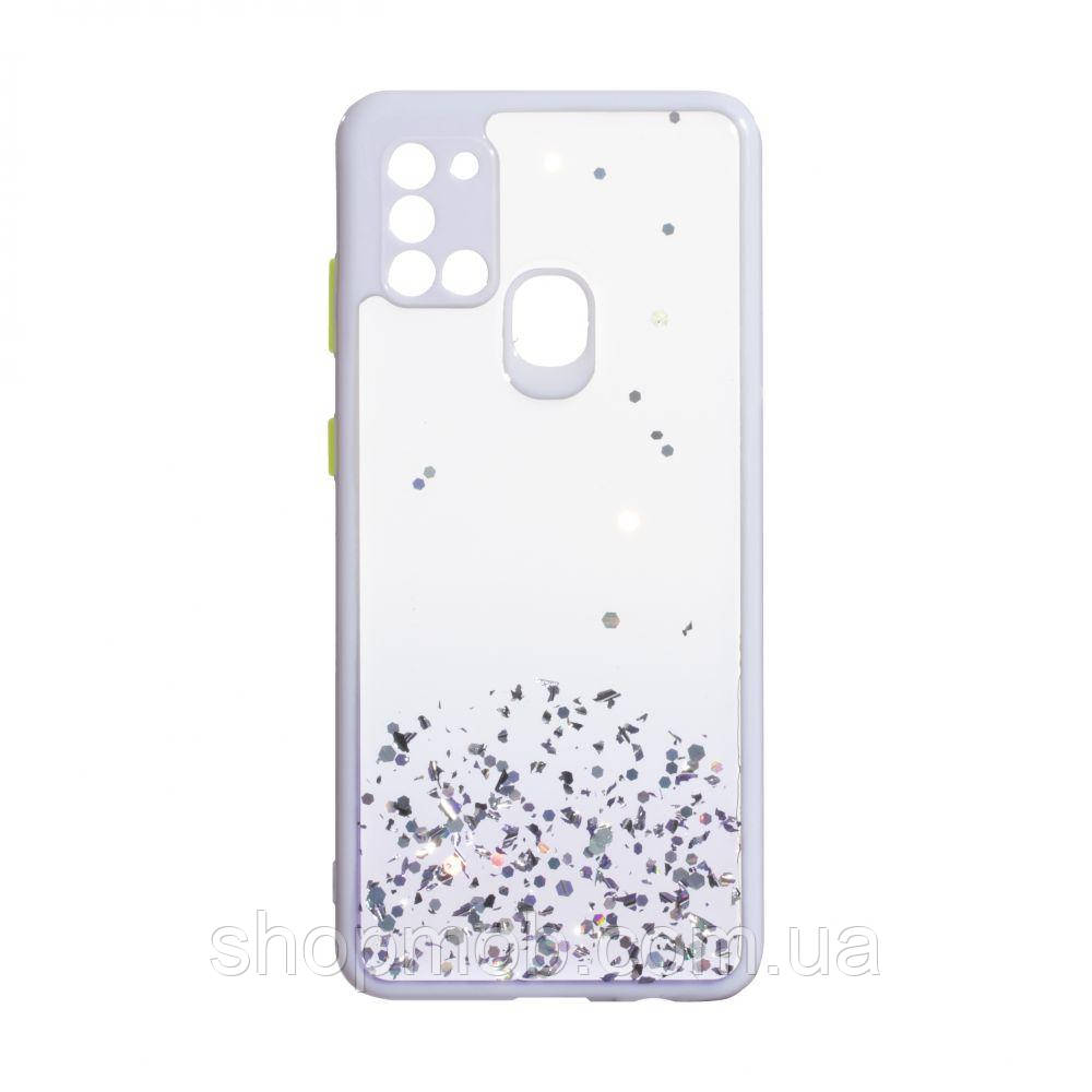 Чехол Frame with Sequins for Samsung A21s Цвет Сиреневый