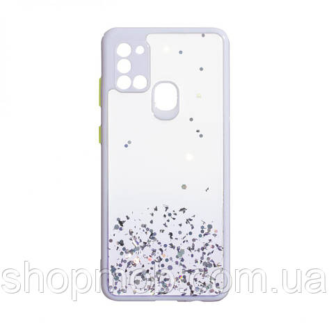Чехол Frame with Sequins for Samsung A21s Цвет Сиреневый, фото 2