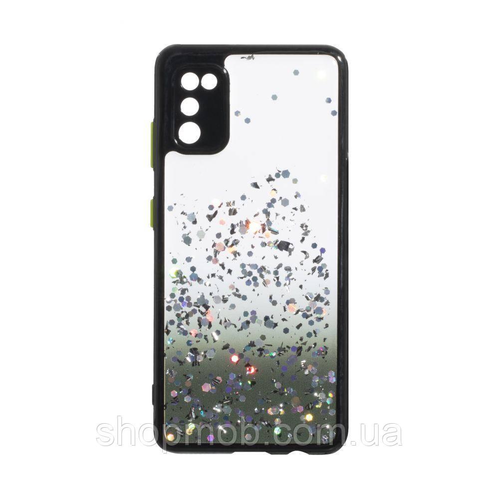 Чехол Frame with Sequins for Samsung A41 Цвет Чёрный