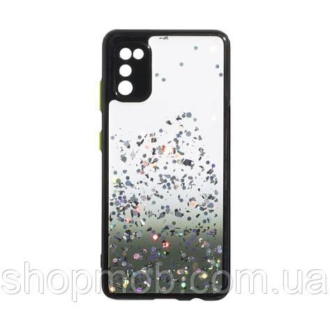 Чехол Frame with Sequins for Samsung A41 Цвет Чёрный, фото 2