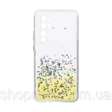 Чехол Frame with Sequins for Xiaomi Mi Note 10 Lite Цвет Жёлтый, фото 2