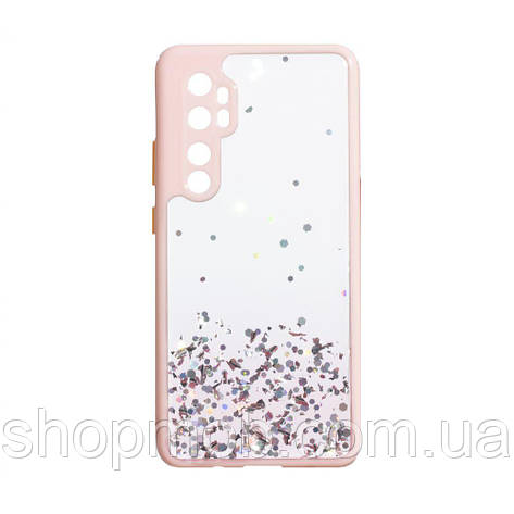 Чехол Frame with Sequins for Xiaomi Mi Note 10 Lite Цвет Розовый, фото 2