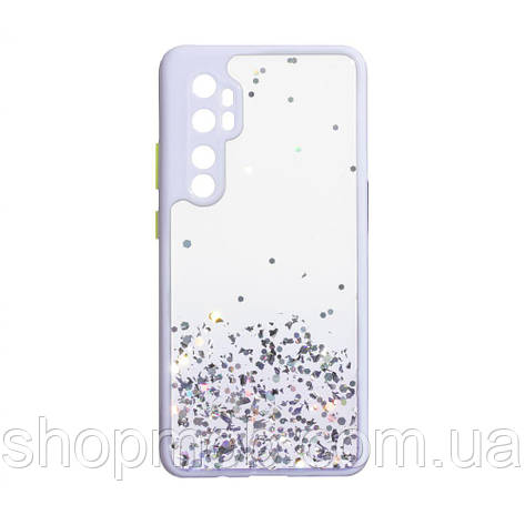 Чехол Frame with Sequins for Xiaomi Mi Note 10 Lite Цвет Сиреневый, фото 2