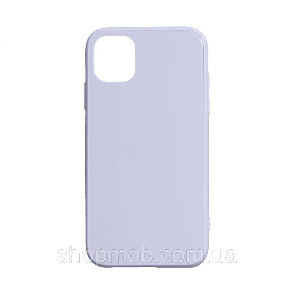 Чехол TPU Glass Logo Full for Apple Iphone 11 Pro Max Цвет Сиреневый