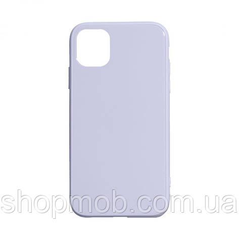 Чехол TPU Glass Logo Full for Apple Iphone 11 Pro Max Цвет Сиреневый, фото 2