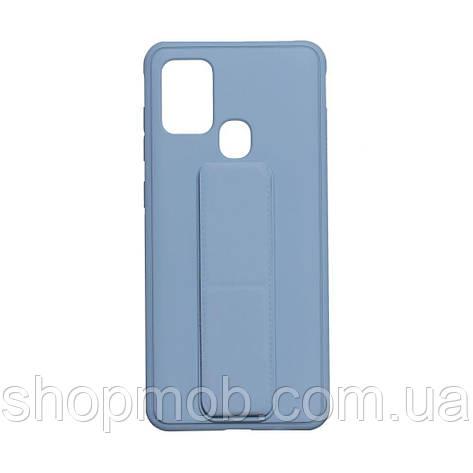 Чохол Bracket for Samsung A21s Колір Light Blue, фото 2