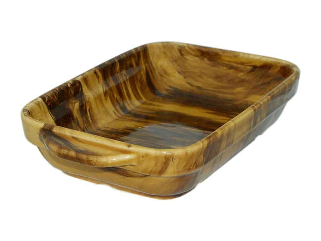 Форма керам. для запікання З 750мл веселка коричневий ТМПОЛИГЕНЬКО