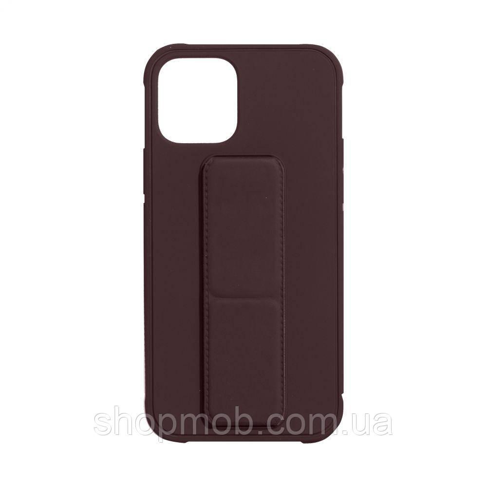 Чехол Bracket for Apple Iphone 12 (6.7) Цвет Brown