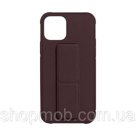 Чехол Bracket for Apple Iphone 12 (6.7) Цвет Brown, фото 2